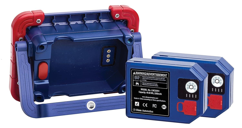 Powerful Magnetic Base Clore Automotive Light-N-Carry LNC2551 Rechargeable COB LED Work Light 4000 Lumen 2 Batteries