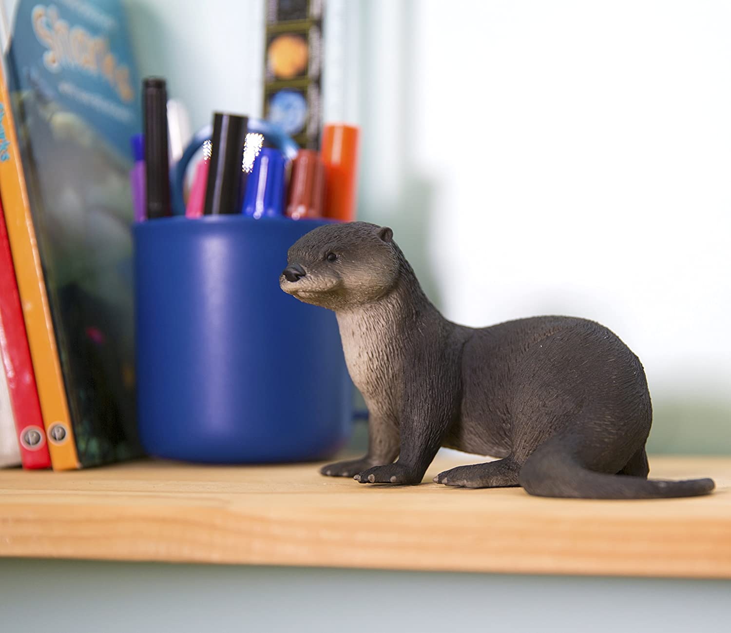 Realistic Hand Painted Toy Figurine Model Lead and BPA Free Materials Quality Construction from Phthalate Safari Ltd for Ages 3 and Up River Otter