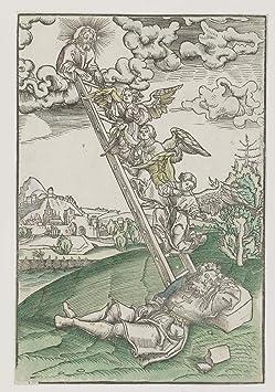 Lucas Cranach The Elder Giclee Papel de Arte impresión Obras de Arte Pinturas Reproducción de Carteles(El sueño de Jacob de una Escalera al Cielo.) #XZZ: Amazon.es: Hogar