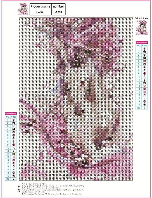 HannahY Kit de Punto de Cruz 5D Diamond Painting, para decoración ...