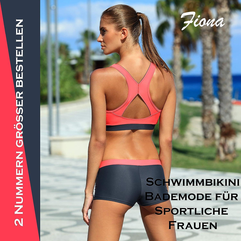 Aqua-Speed® FIONA Two-piece Tankini | VITA-fabric - Resistant to chlorine and sunscreen/oil 03. Rot - Grau