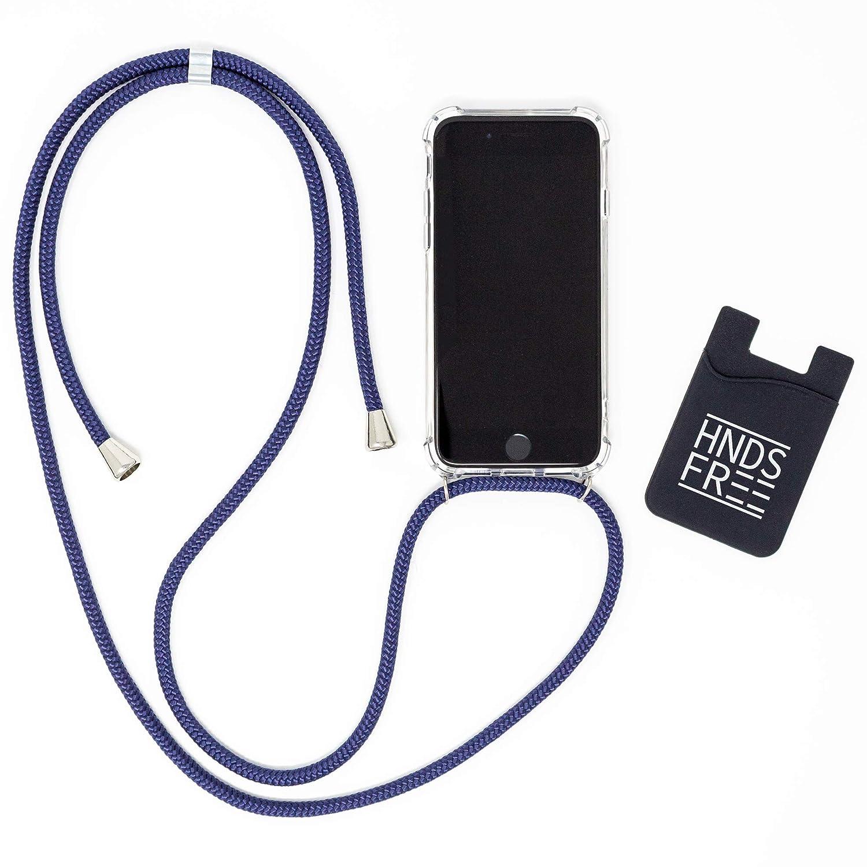 HNDSFREE Handykette Smartphone Necklace passend f/ür Samsung Galaxy S8 gratis Kartenhalter mit Band zum Umh/ängen inkl Grau