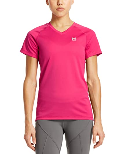 1706e14150e1d Amazon.com  Mission Women s VaporActive Alpha Short Sleeve V-Neck T ...