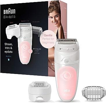 Braun Silk-épil 5 5-620 Depiladora eléctrica para mujer, cabezal de afeitado y recorte depilación suave, tecnología de pinzas micro-grip, uso en húmedo: Amazon.es ...