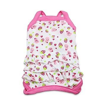 2b43228329a5 DroolingDog Dog Girl Clothes Pet Girl Shirt Lovely Pink Dress Puppy Cat  Apparel Small Dogs Girls