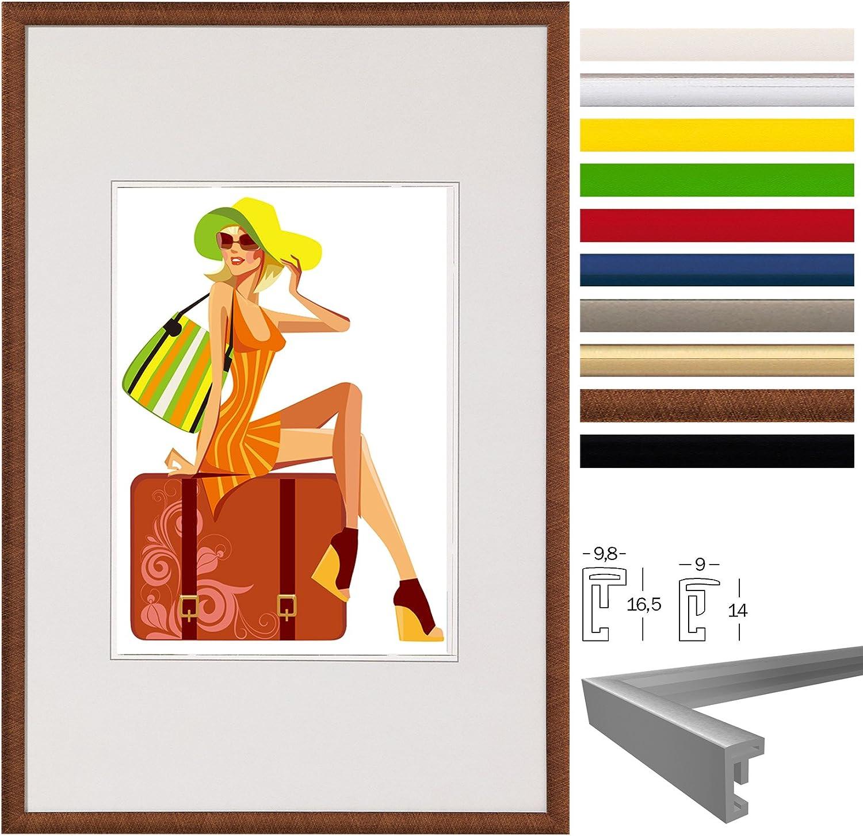 WOLTU Set de 3 Cadre Photo Cadre en Plastique Mat pour Photo 28x35cm vitre en Verre New Life Style Blanc BR9863ws-3