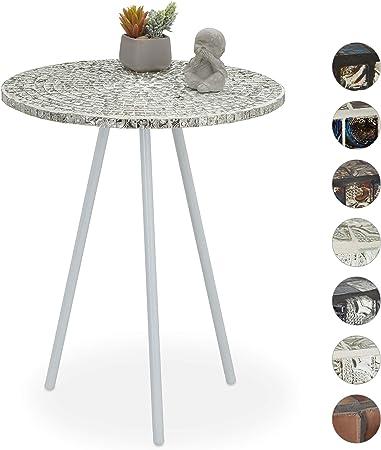 Relaxdays Ronde mosaïque, d\'appoint, Décorative, Table de ...