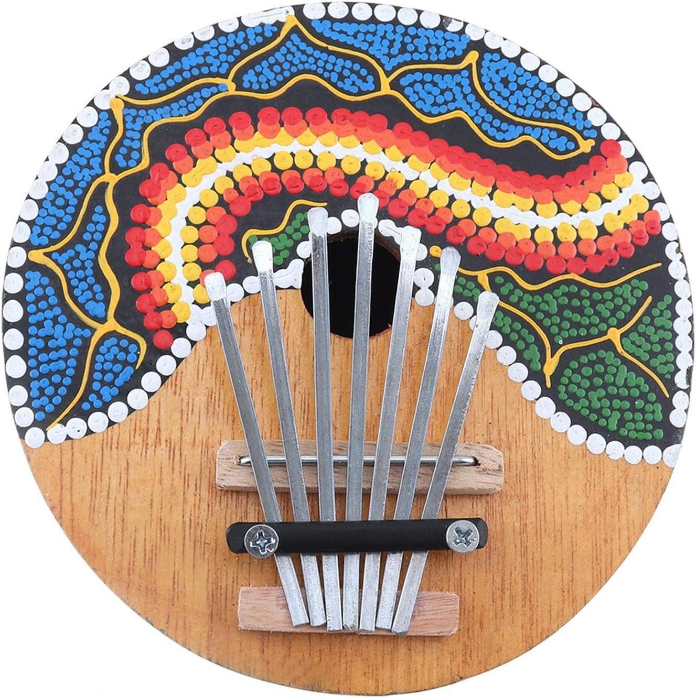 7 Clave Popular Kalimba, Dibujo Coloreado Coco Shell Pulgar ...