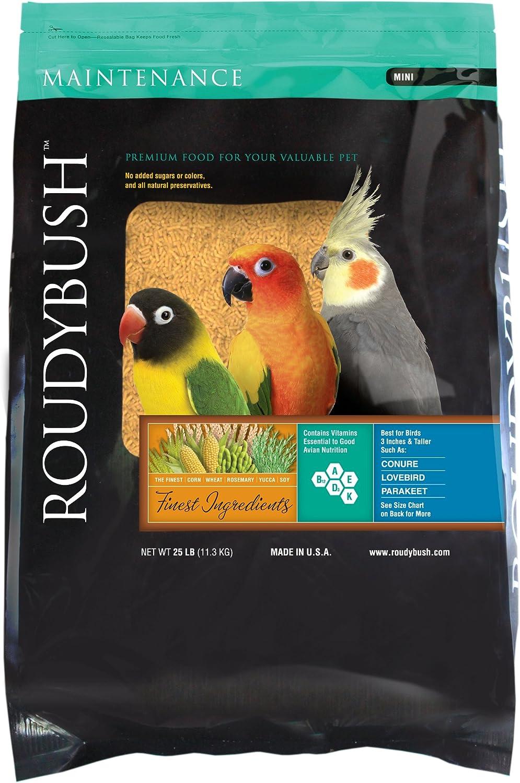 RoudyBush Daily Maintenance Bird Food, Mini, 25-Pound