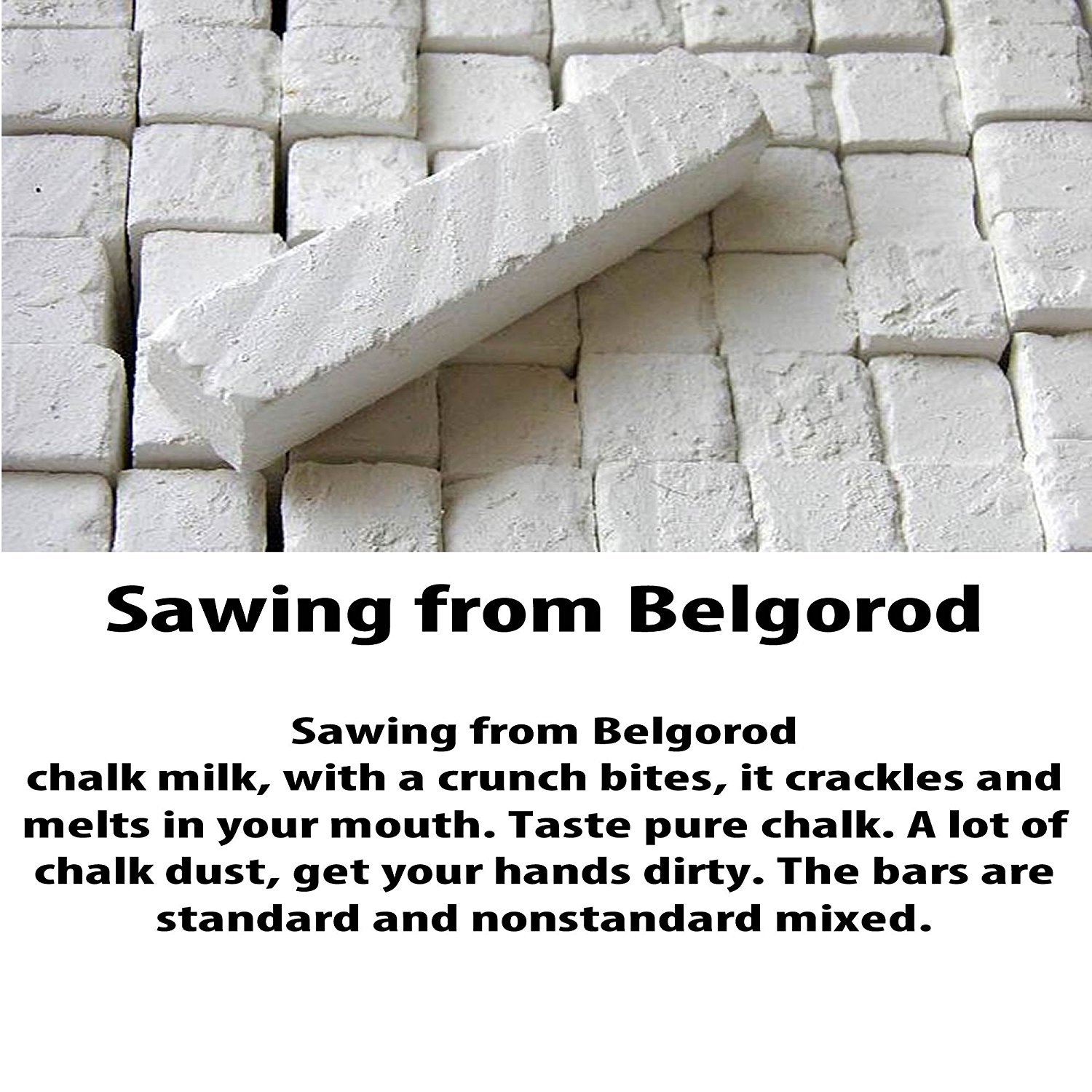 Edible chalk, Natural Chalk, ''SAWN Chalk Belgorodskiy'' 200gr.