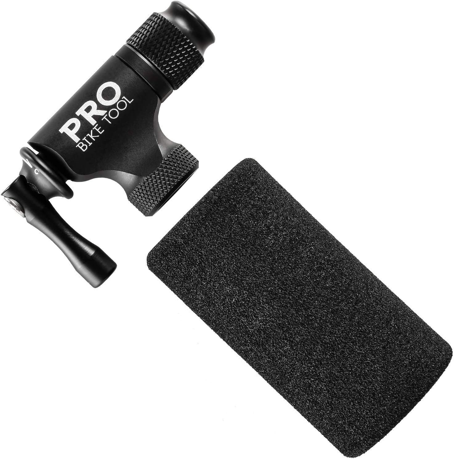 PRO BIKE TOOL CO2 Inflator for Road and Mountain Bikes 17 in 1 Bicycle Multitool