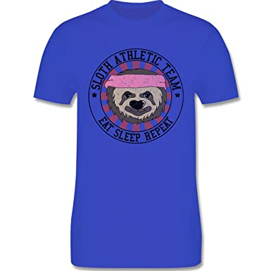 Statement Shirts - Sloth Athletic Team Faultier - Herren T-Shirt Rundhals:  Shirtracer: Amazon.de: Bekleidung