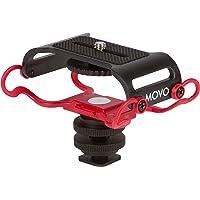 """Montage d'enregistreur portable et microphone Movo SMM5-R Universel - s'adapte au Zoom H4n, H5, H6, Tascam DR-40, DR-05, DR-07 avec vis de montage de 1/4 """" (dernière version 2016)"""