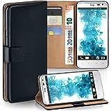 HTC Sensation XL Hülle Schwarz mit Karten-Fach [OneFlow 360° Book Klapp-Hülle] Handytasche Kunst-Leder Handyhülle für HTC Sensation XL Case Flip Cover Schutzhülle Tasche