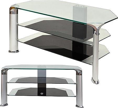 Mesa de cristal de vidrio templado para TV plasma LED LCD Hifi ...