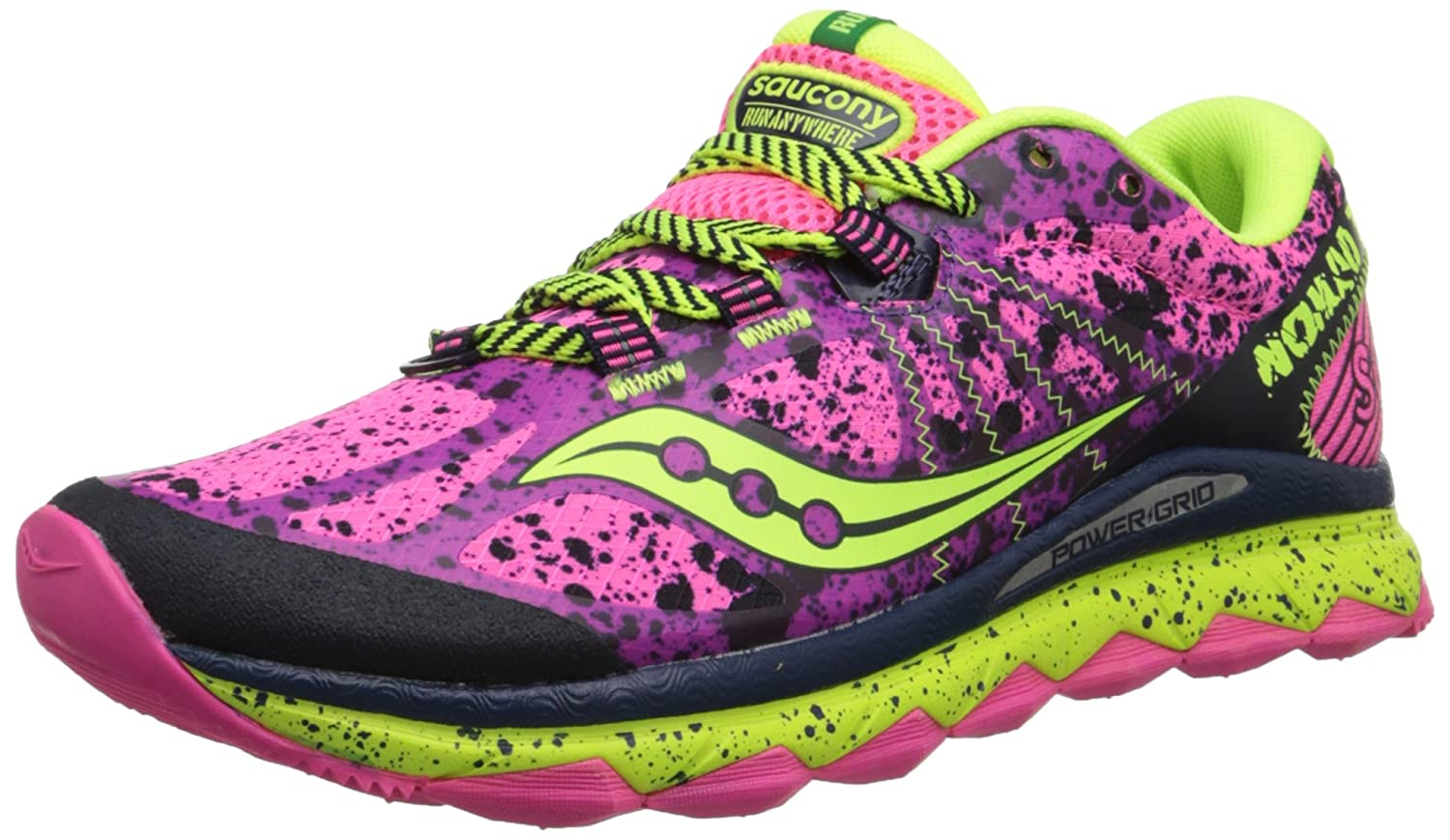 Saucony Women's Nomad TR Trail Running Shoe B00PJ8TRUW 7.5 B(M) US|Pink/Purple