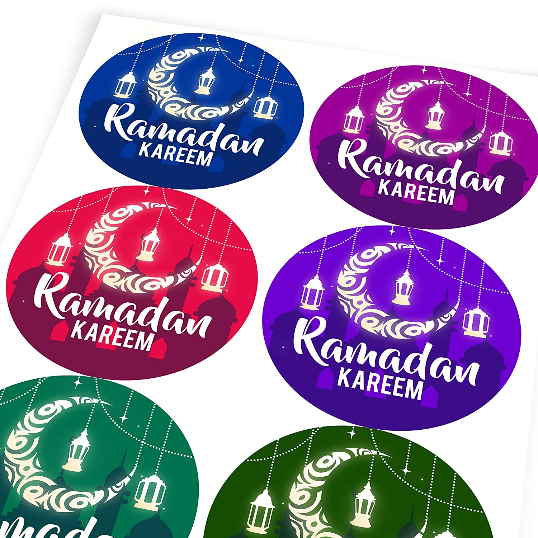 6 Stickers @ 9.5cm Teachers Parents Children Graphic Flavour Islamic Symbols Reward Sticker Labels