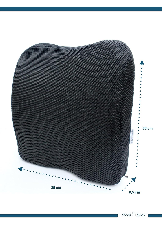Cuscino ortopedico per la schiena cuscino lombare ergonomico sostegno per la lordosi e per la schiena in auto//ufficio//viaggio Medi Body