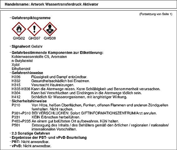 Aktivator Wassertransferdruck Folie WTD Hydrographic Starterset 2m Particle
