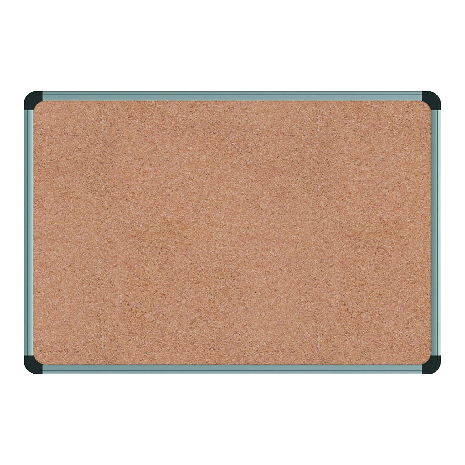 Universal 43714 Cork Board with Aluminum Frame, 48 x 36, Natural, Silver Frame United Stationers - Drop Ship
