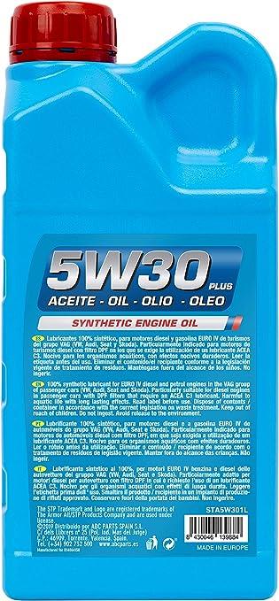 STP 5W30 PLUS - Aceite para Motores Gasolina y Diesel (API SN, ACEA C3/C2, 504.00/507.00, MB 229.51, LL-04, PORCHE C30): Amazon.es: Coche y moto