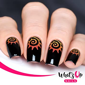 Amazon Whats Up Nails Tribal Sun Vinyl Stencils For Nail Art
