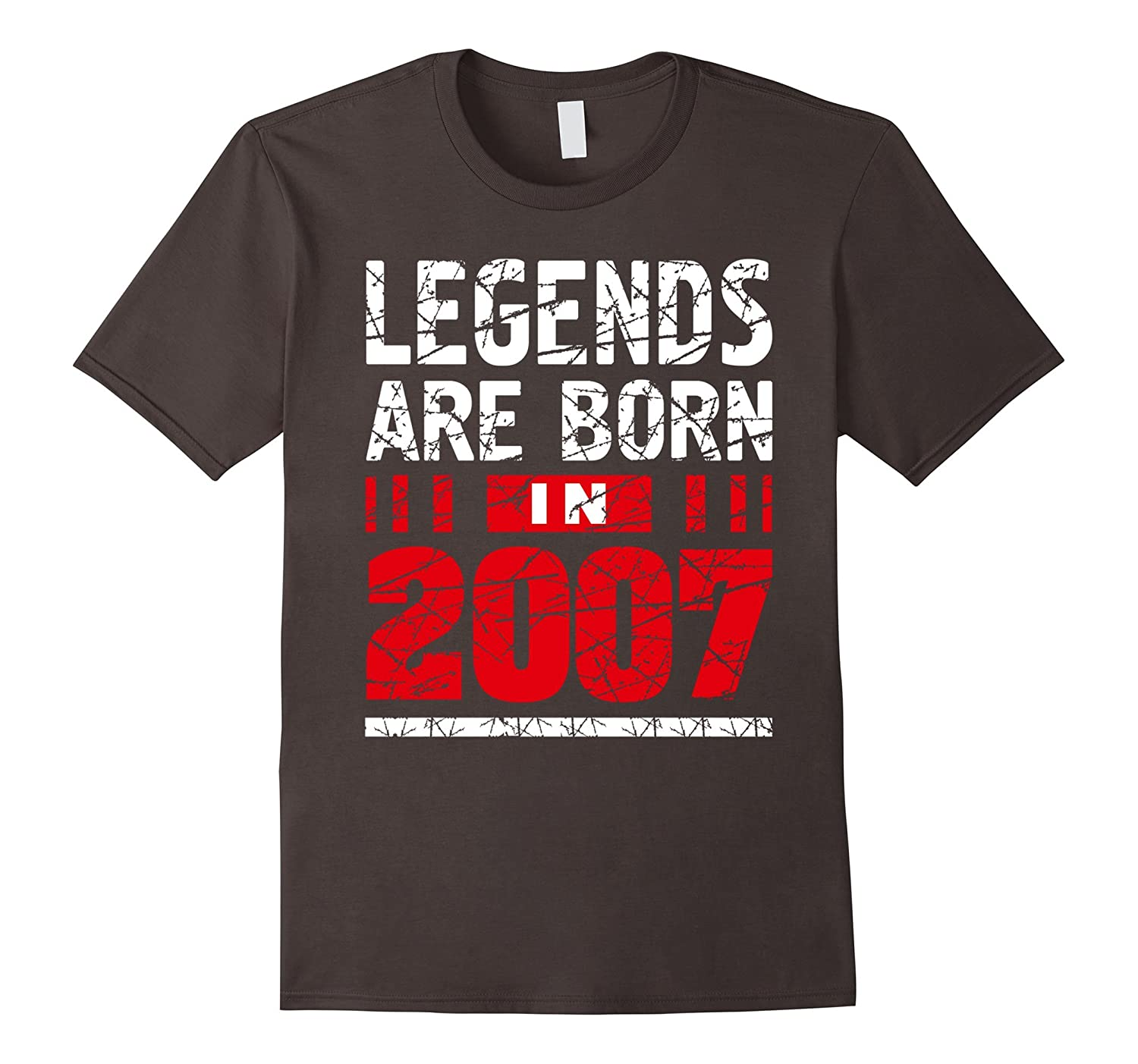 10 years old 10th Birthday B-day Gift Legends 2007 T Shirt-Rose