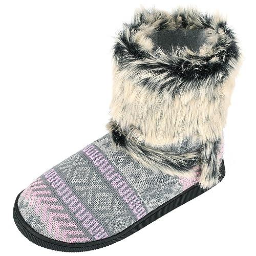 2699437a844 Sibba Zapatos de Estar por Casa para Mujer Botas con Pelo Interior  Templadas y Cómodas: Amazon.es: Zapatos y complementos