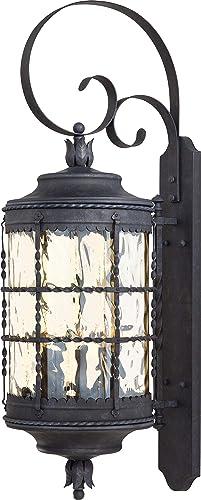 Minka Lavery Outdoor Wall Light 8883-A39 Mallorca Exterior Wall Lantern, 300 Watts, Iron