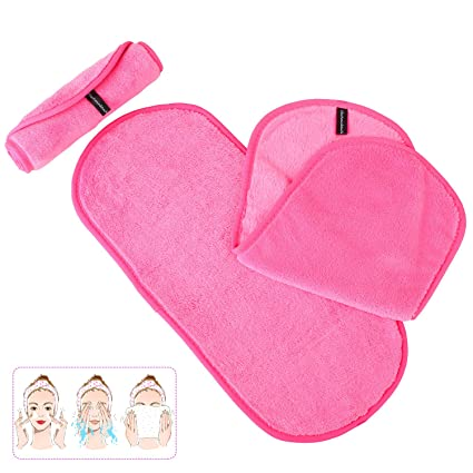 MVPOWER Toallita de Desmaquillaje Paño Desmaquillante Maquillaje Remover de Microfibra con Agua sin Química Hipoalergénico Lavable