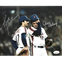 $110 » NY Mets Stars Ron Darling and Keith Hernandez on The Mound Autographed 8x10 Photo Picture