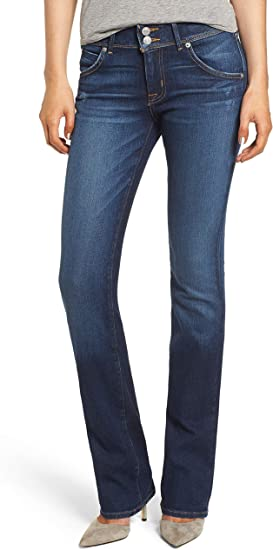 Hudson Beth Midrise Baby Boot Cut Dark Blue Jeans Women's Made USA