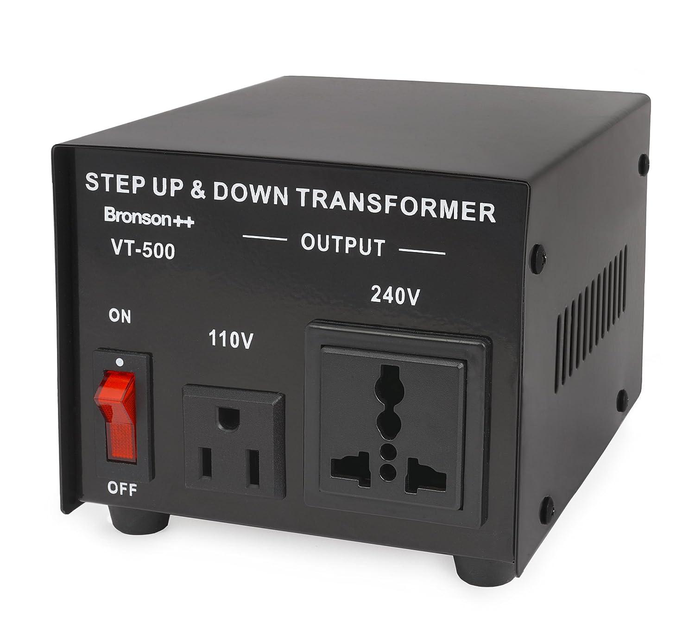 Bronson++ VT 750 110V 750W Bronson - Convertidor de Energ/ía de 110 Voltios Transformador Elevador//Reductor de Voltaje de 750 Vatios EE.UU
