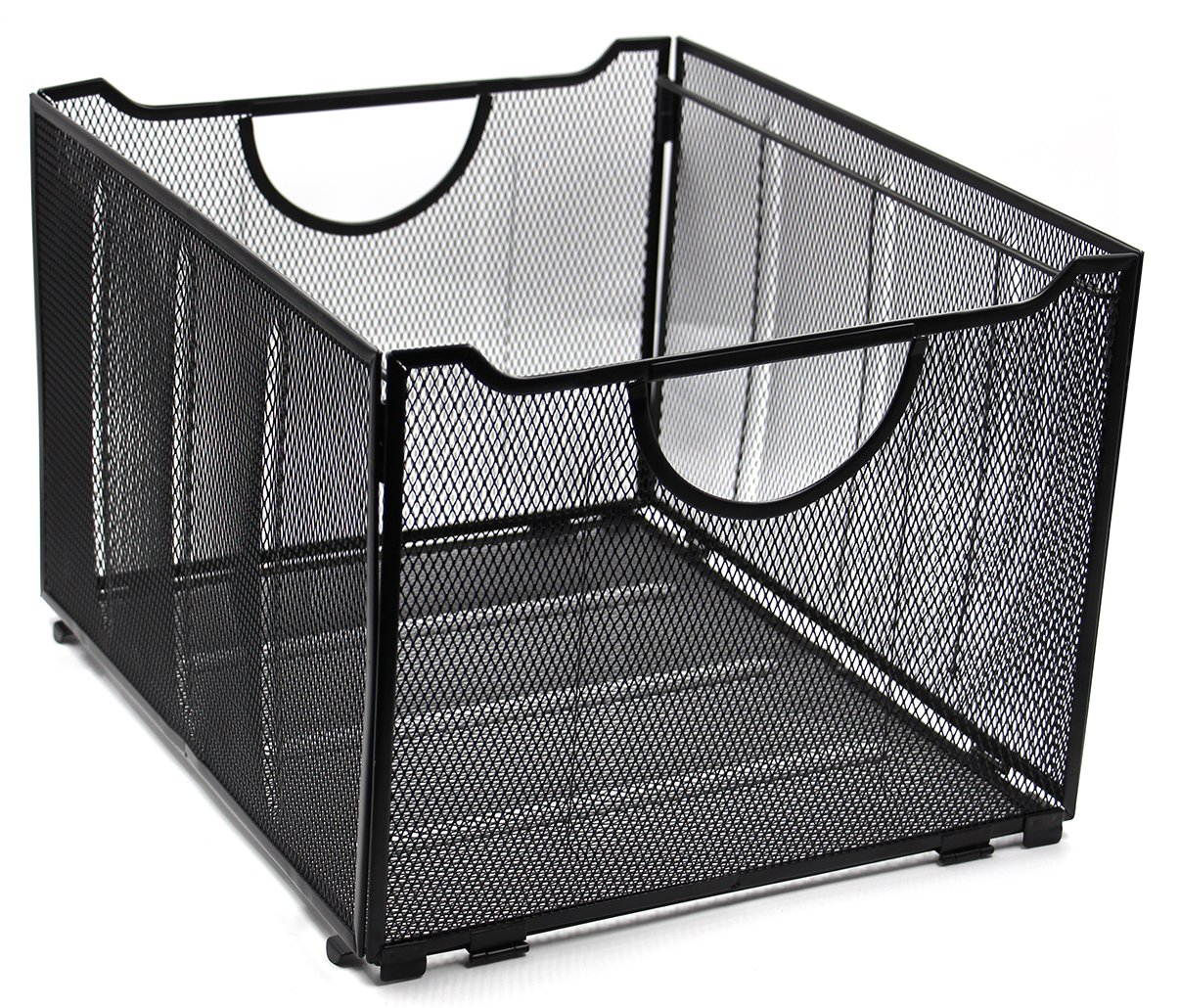EasyPAG Mesh File Box/Foldable Storage Crate Box 12 x 9-1/4 inch, Black