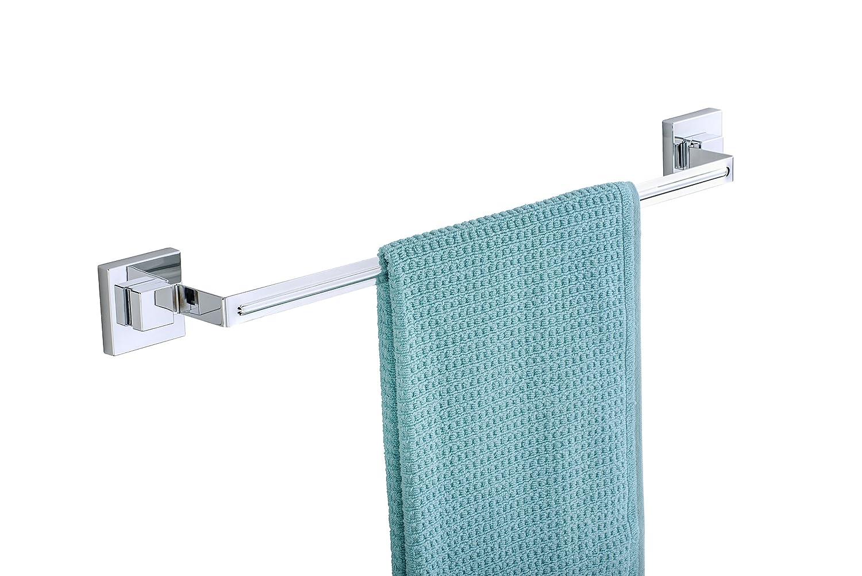 Wenko Quadro Big Wall Shelf with Vacuum-Loc 38.5 x 8.5 x 14.5 cm Stainless-Steel Silver//Transparent