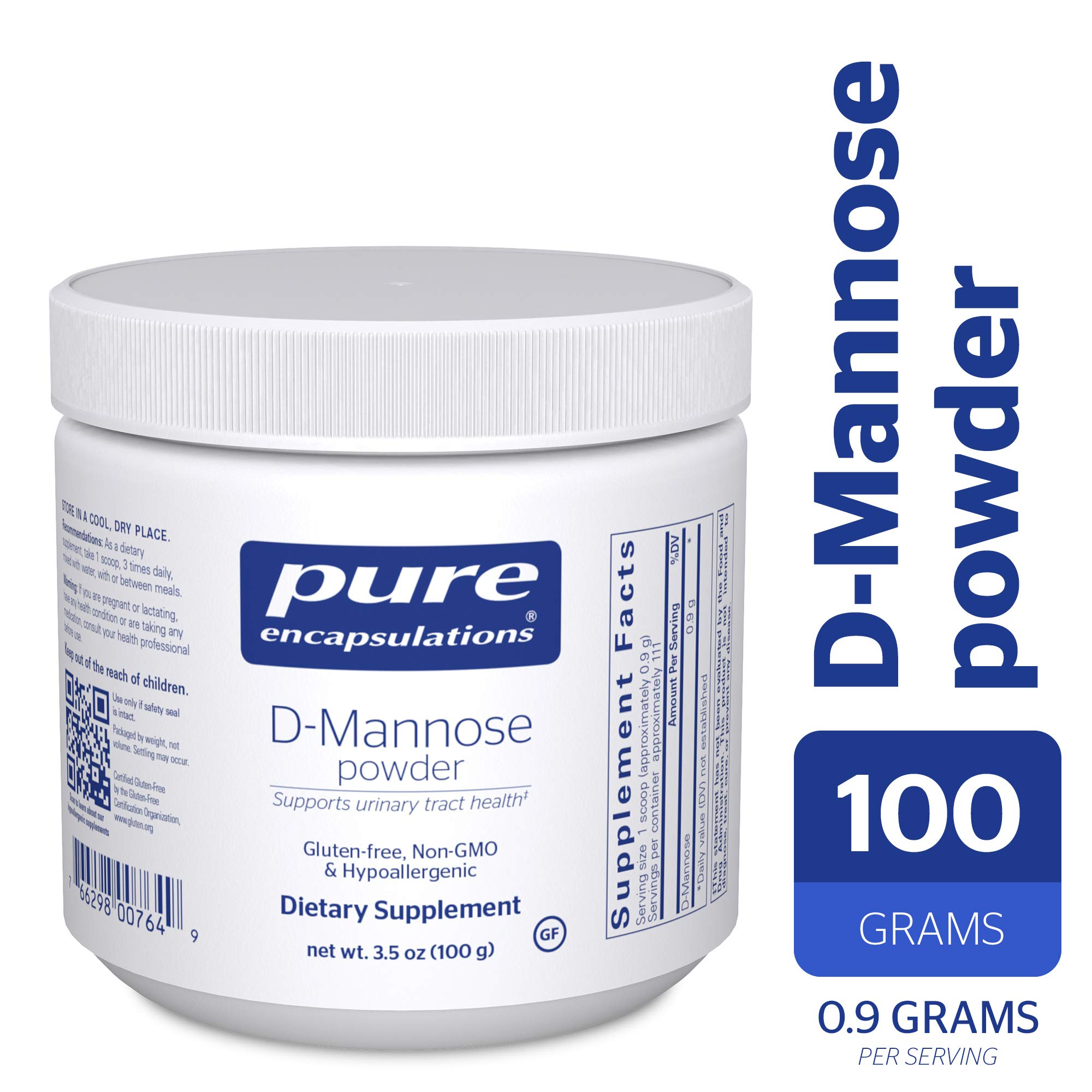 Pure Encapsulations - d-Mannose Powder - Hypoallergenic Supplement for Urinary Tract Support* - 100 Grams by Pure Encapsulations
