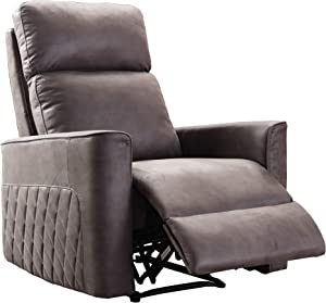 Recliner Chair, Merax Soft Fabric Sofa with Comfortable Armrest and Backrest, (Grey)