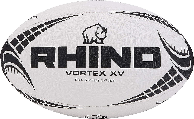 Rhino Vortex XV - Pelota de Rugby Unisex, Color Blanco y Negro ...