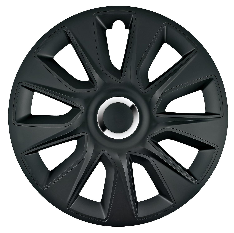 Serie 4 Tapacubos 15 Modelo Stratos RC Black: Amazon.es: Coche y moto