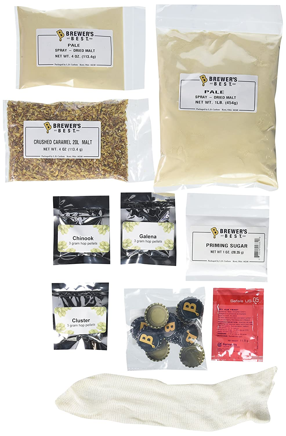 Home Brew Ohio American Ale Brewer's Best 1 gallon Home Brew Beer Ingredient Kit B01BUJNM22
