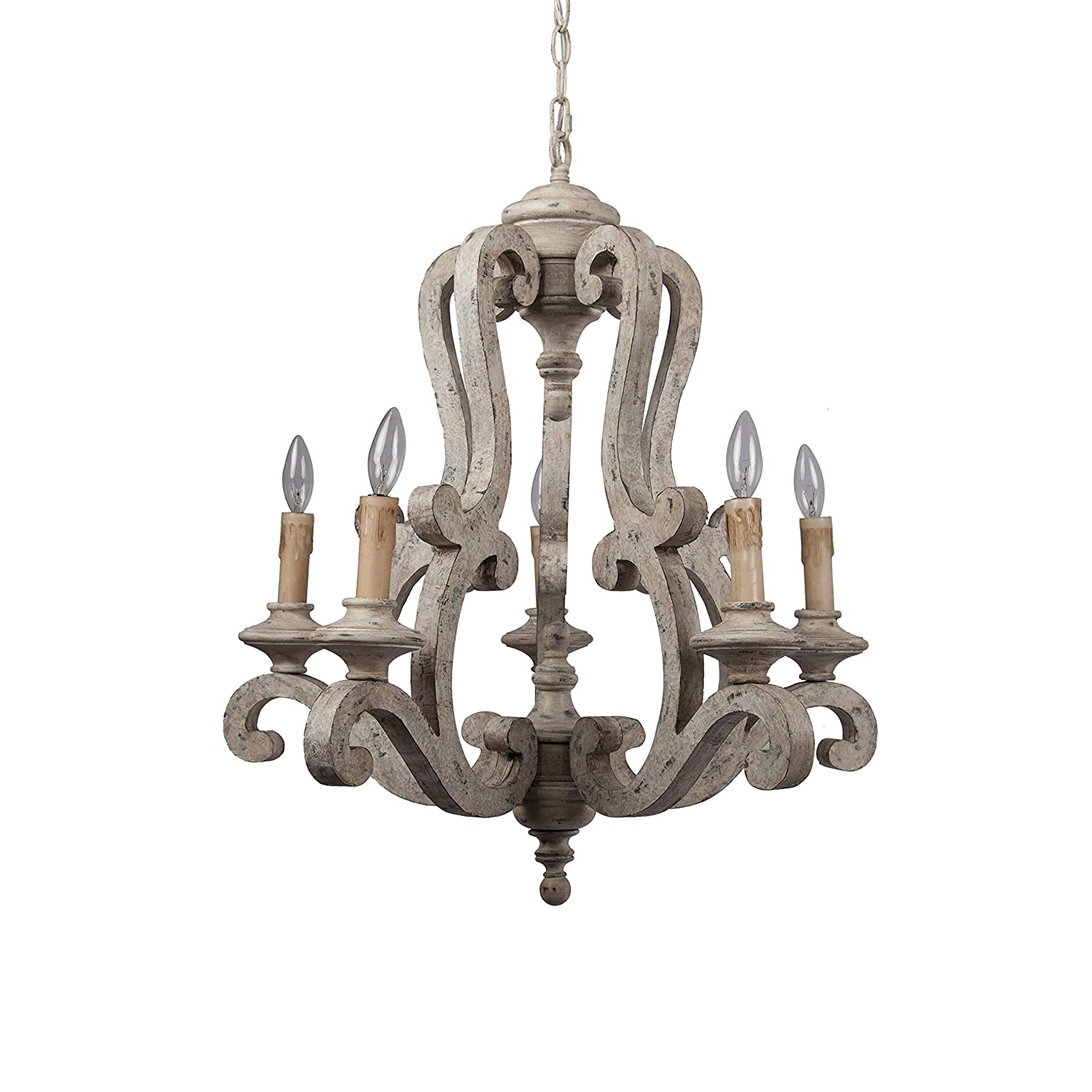 Rustic wood candle holder style chandelier is beautiful in dining areas, bedrooms, and kitchens when you want a European inspired, aged and retro look.