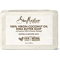 SHEA MOISTURE 100% Virgin Oil Butter Soap, Coconut, 8 Oz (U-BB-2690)