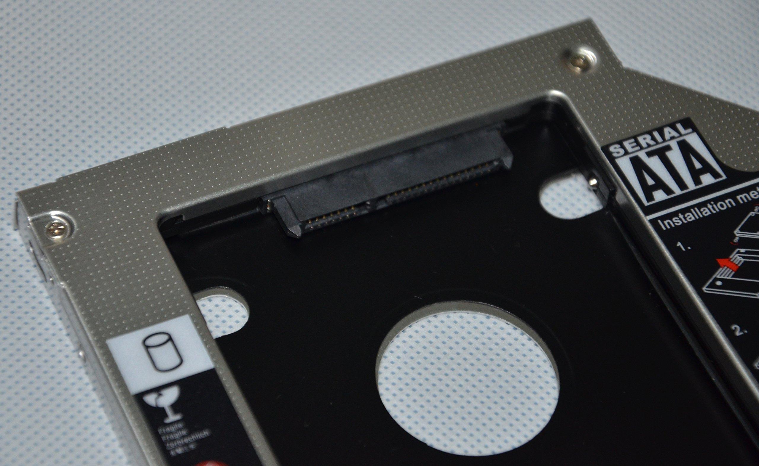 Deyoung 2nd HDD SSD Caddy Adapter for Dell Latitude E6420 E6520 E6320 E6430 E6530 E6330 by De Young (Image #2)
