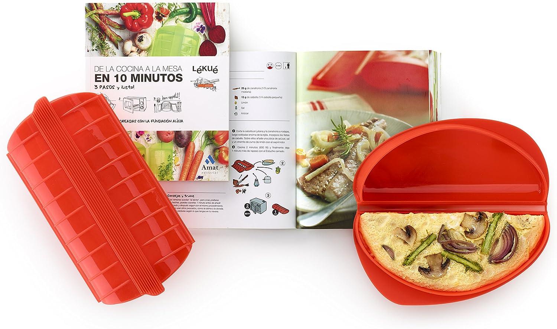 Lékué Kit Libro+Omelette+Estuche de Vapor, Centimeters: Amazon.es: Hogar