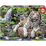 Educa - 14808 - Puzzle Classique - Tigres Blancs du Bengale