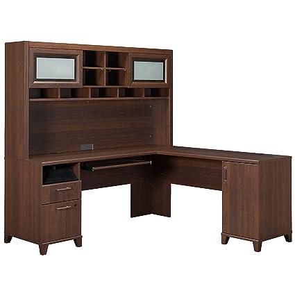 Bush Furniture Achieve L-Desk with Hutch