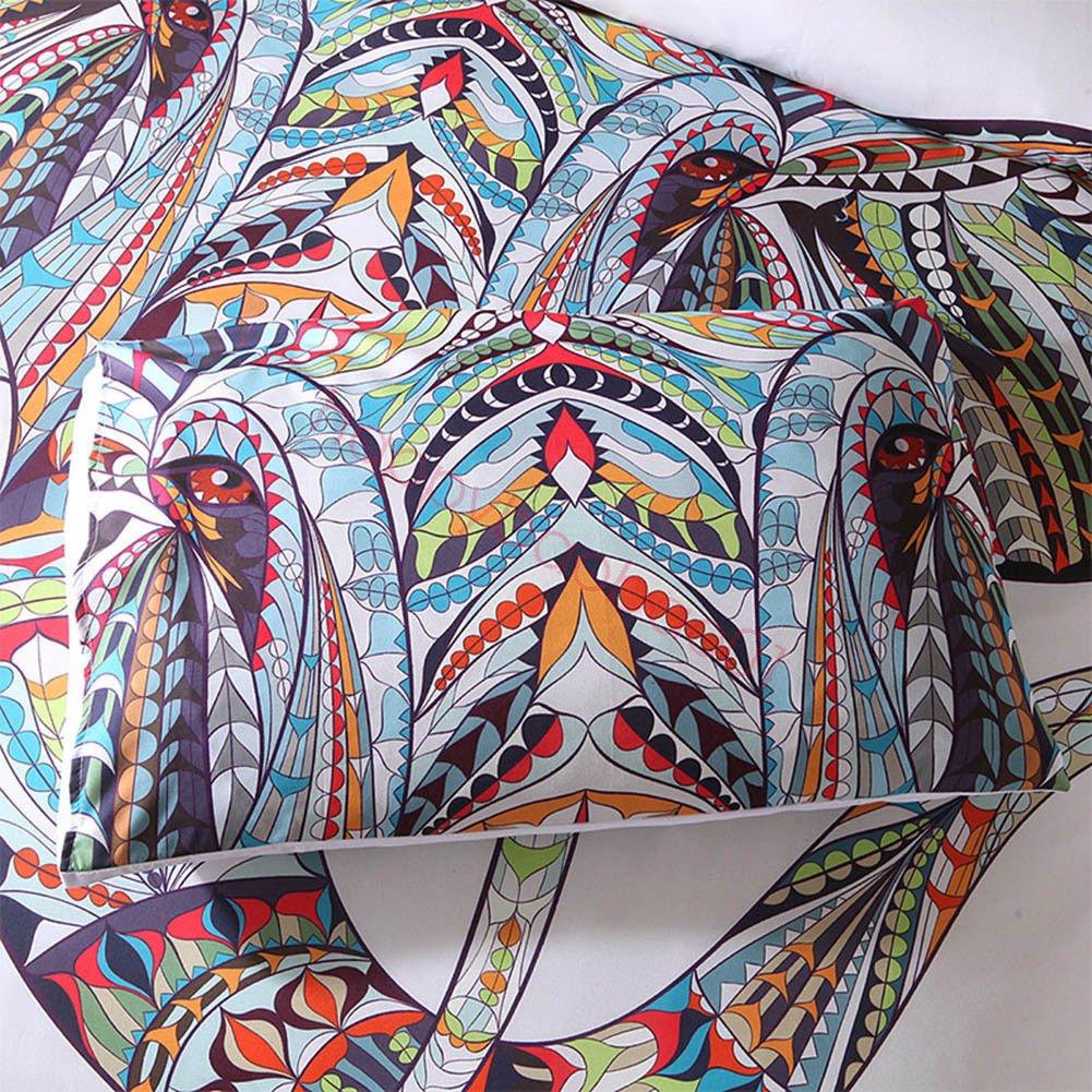 (#005) Mandala Comforter Bedding Cover Colorful Elephant Boho India Duvet Covers Set by trois_s (Image #4)
