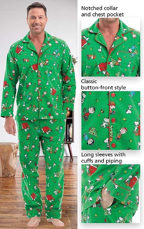PajamaGram Fun Mens Christmas Pajamas - Charlie Brown Pajamas b0c5d3758