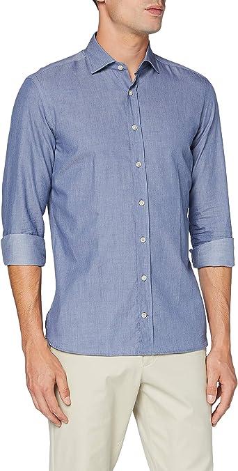 Hackett London Patchwork Chambray Camisa para Hombre: Amazon ...