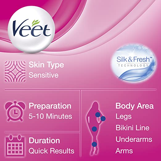 Amazon.com : Veet Hair Removal Cream Sensitive Skin with Aloe Vera & Vitamin E (400ml) : Beauty